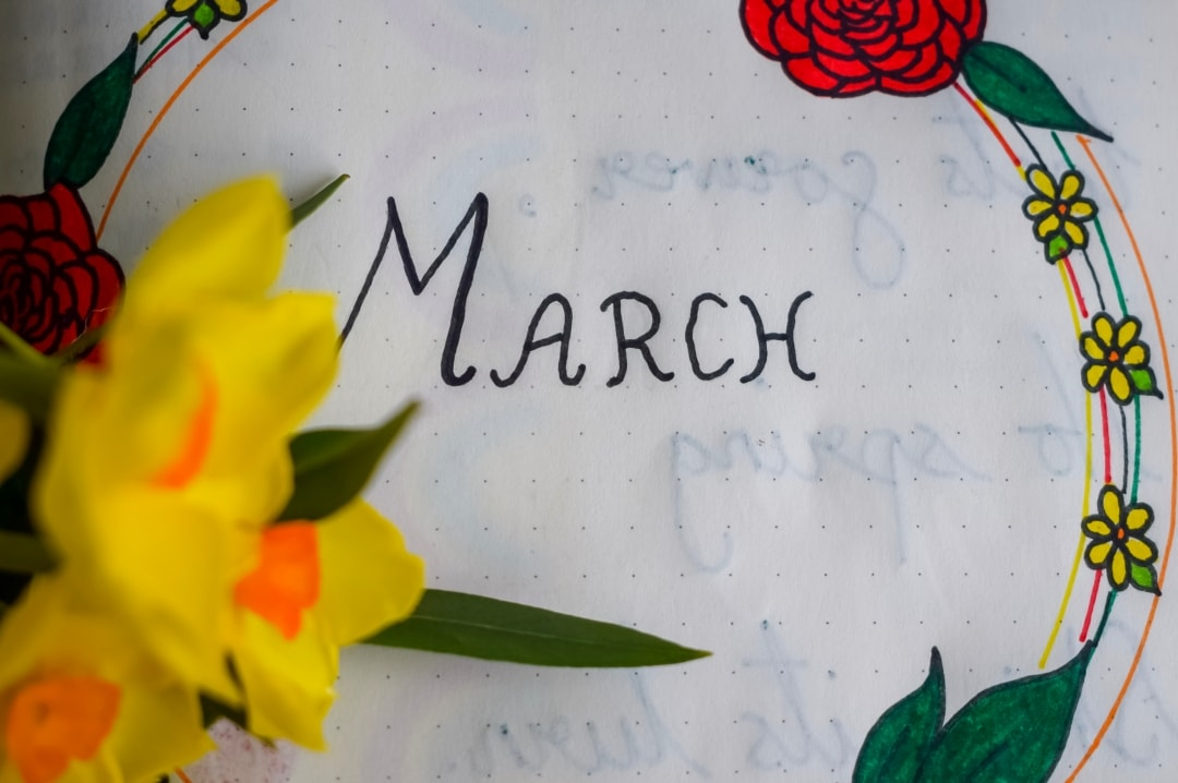 A page showing how I set up my bullet journal up in March - My Monthly Bullet Journal Set-Up - Mrs H's favourite things
