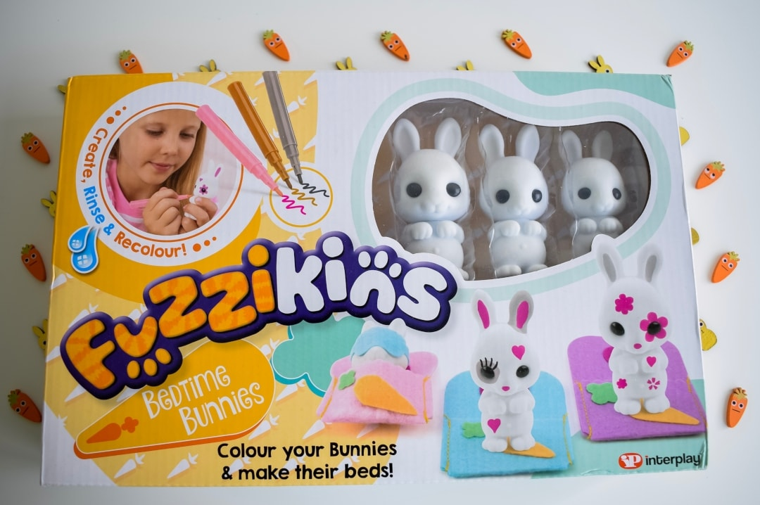 A photograph of the box of Fuzzikins Bedtime Bunnies - Fuzzikins Bedtime Bunnies Review - Mrs H's favourite things