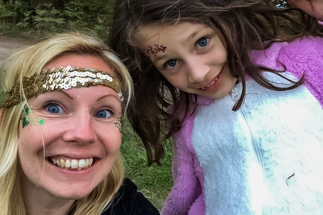 A photograph of a woman and a little girl at a festival - Elderflower Fields: The Perfect Family Festival - Part One - Mrs H's favourite things