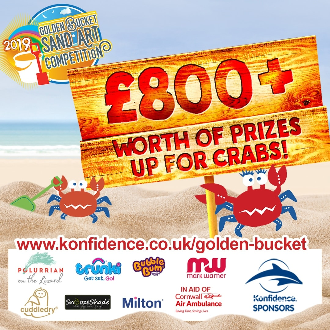 A photograph of the poster for the Konfidence Golden Bucket Sand Art Competition 2019 - Konfidence Golden Bucket Sand Art Competition 2019 - Mrs H's favourite things