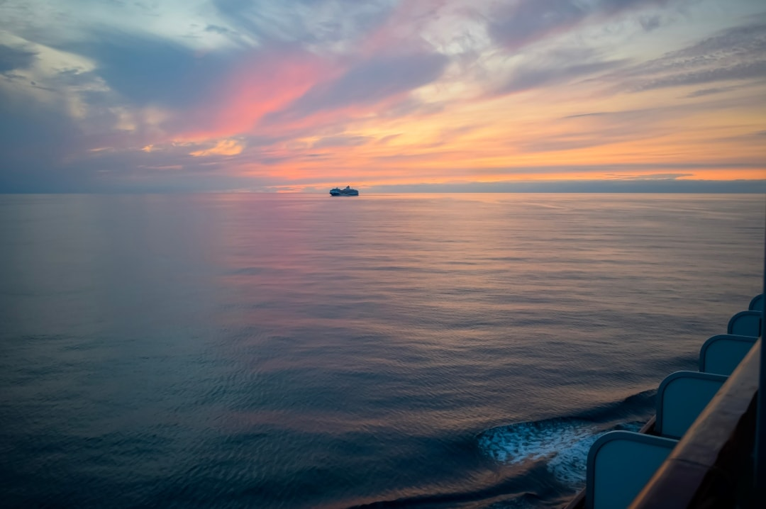 A photograph of the P& O Cruise ship Azura at sea while the sun sets - Snapshots Of Our Summer - Mrs H's favourite things