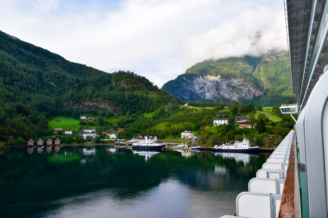 A photograph of Flam in Norway taken from a cabin aboard the P&O cruises ship Azura - Snapshots Of Our Summer - Mrs H's favourite things
