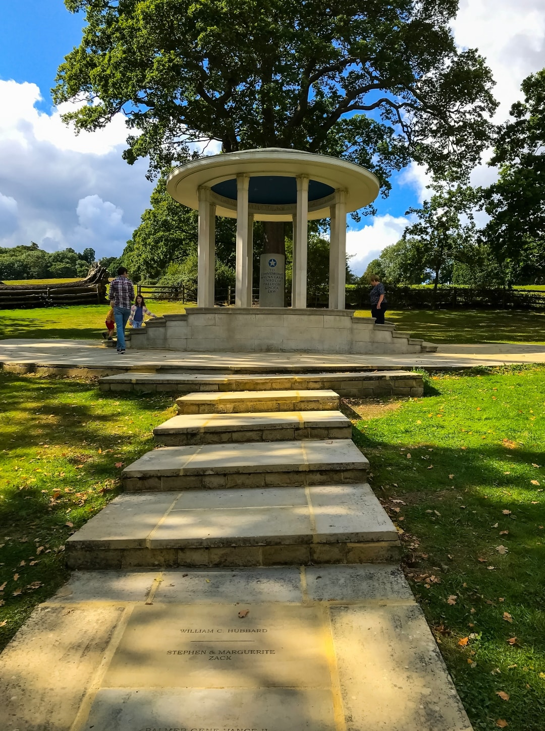 A photograph of the memorial to the Magna Carta at Runnymede - Snapshots Of Our Summer - Mrs H's favourite things