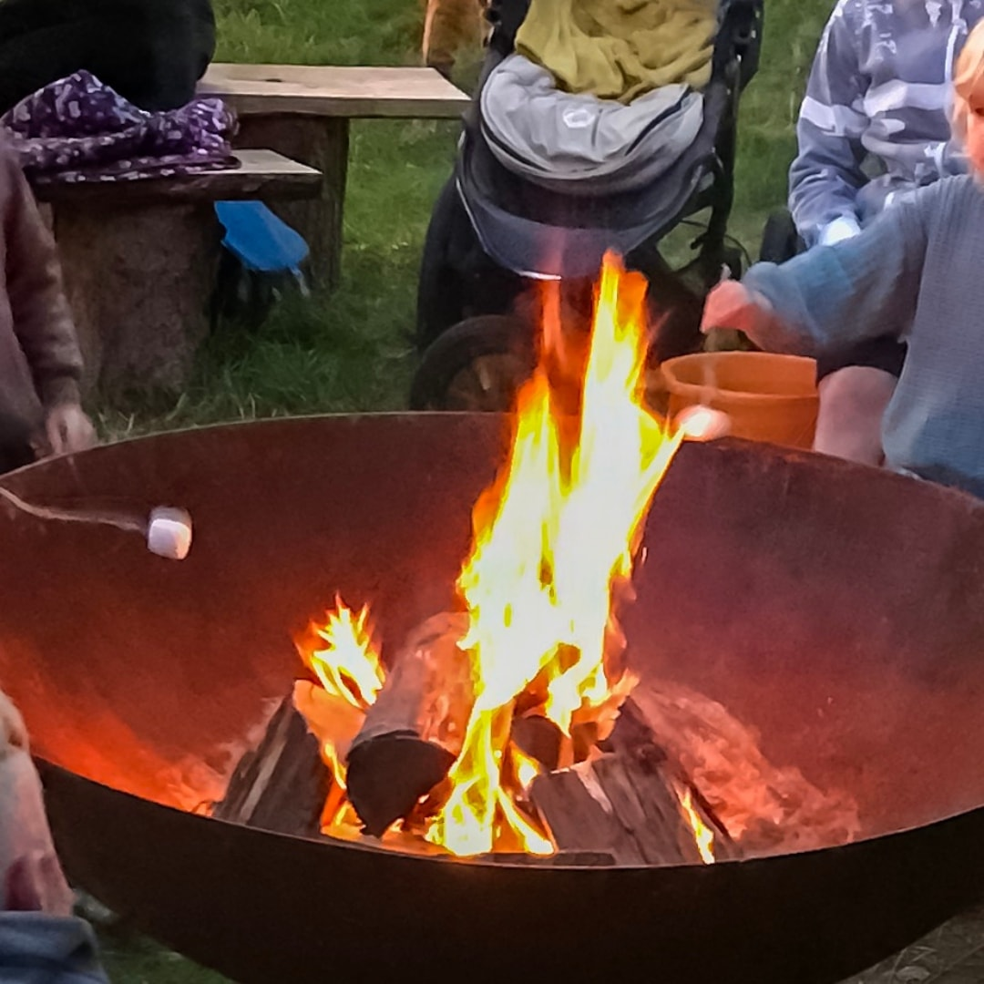 A photograph of the evening camp fire sessions at Into The Trees festival 2019 - Into The Trees Festival - An Idyllic family festival - Mrs H's favourite things