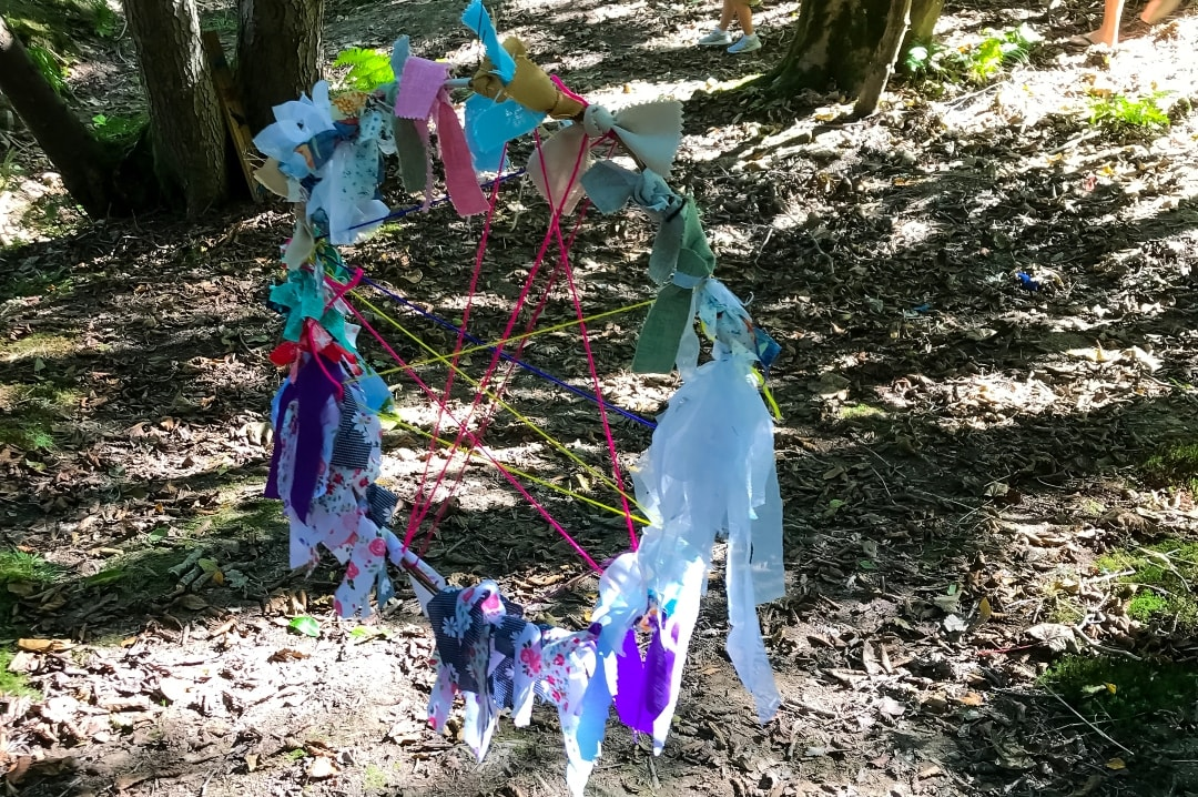 A piece of woven art at the Art Trail in Into the Trees festival 2019 - Into The Trees 2019 - An Idyllic Family Festival - Mrs H's favourite things