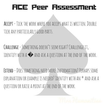ACE Peer assessment
