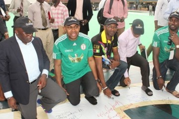 guinness nigeria with super eagles