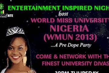 En10tainment Inspired Nite hosts World Miss University Nigeria 2013