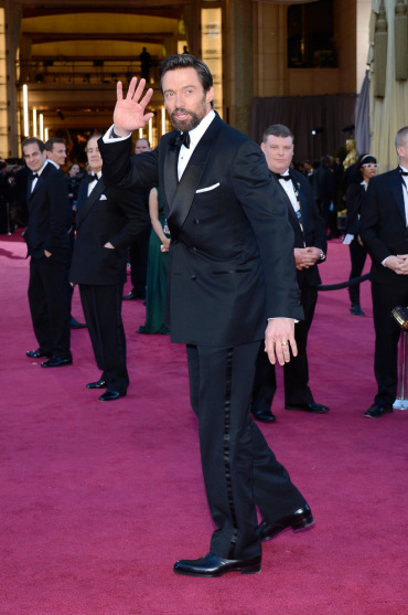 Hugh Jackman in Tom Ford at the Oscars 2013