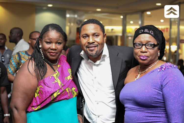 Saidi Balogun and Ayo Mogaji at The Courier movie premiere
