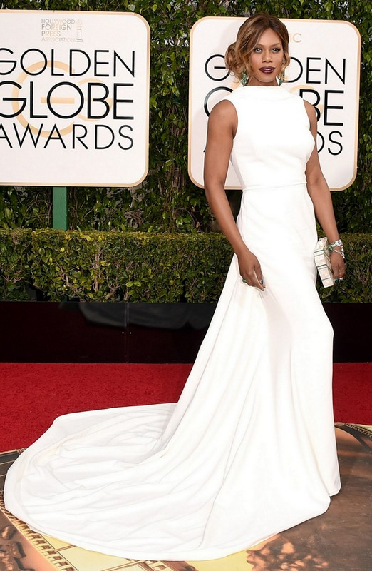 Laverne Cox at Golden Globe Awards 2016