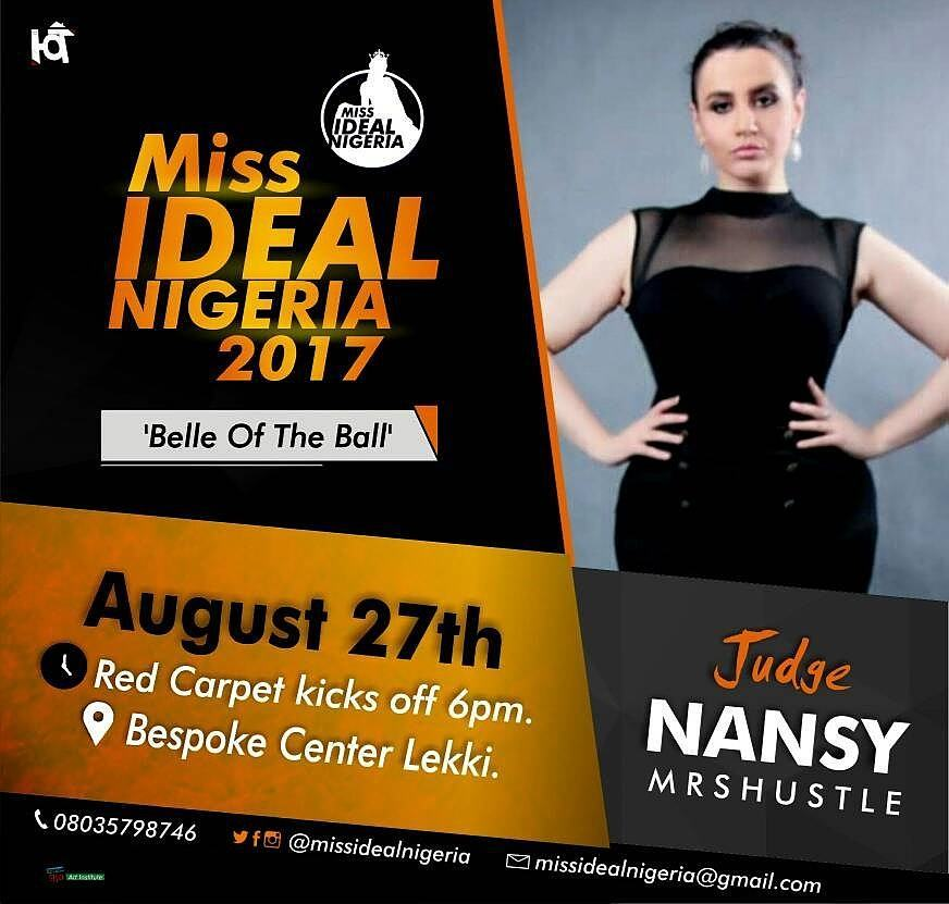 MH NEWS: NANSY MRSHUSTLE TO JUDGE MISS IDEAL NIGERIA 2017