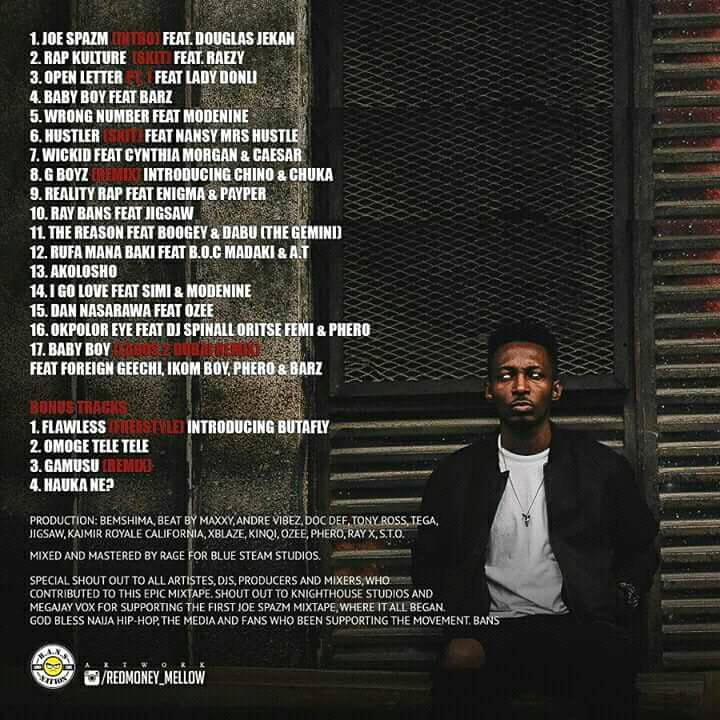 Terry Tha Rapman The Life Of Joe Spazm tracklist