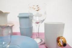 sky blue ceramics and glass from Leonardo