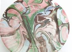 marbled ceramic plate