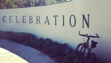 Biking in Celebration, Florida.