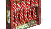 Sriracha Candy Canes are available starting today at www.SrirachaCandyCanes.com for $7.99 per 12-pack.