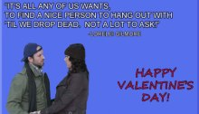Gilmore Girls Valentine's Day Cards.