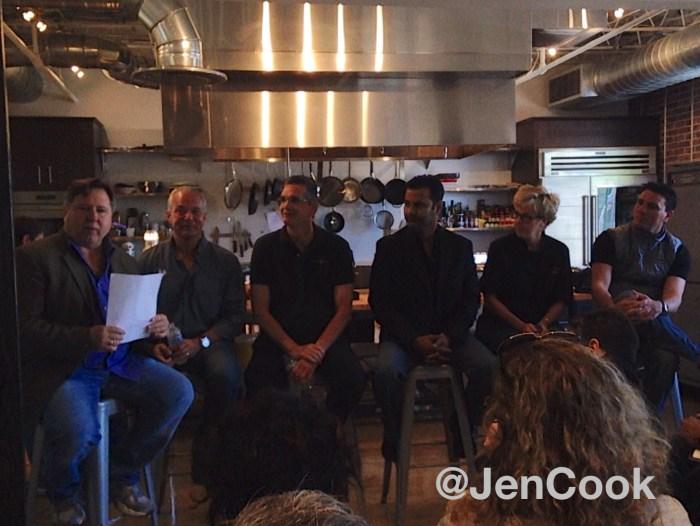 Chef Norman Van Aken of Norman's led the panel. John Rivers (4 Rivers & The Coop), Scott Hunnel (Victoria & Albert's), Hari Pulapaka (Cress Restaurant) Kathleen Blake ( The Rusty Spoon) and Brandon McGlamery (Luma on Park & Prato).