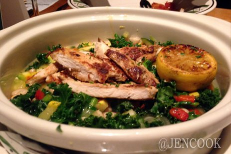 Olive Garden- Chicken Abruzzi - a low calorie/low carb option. And it was tasty!