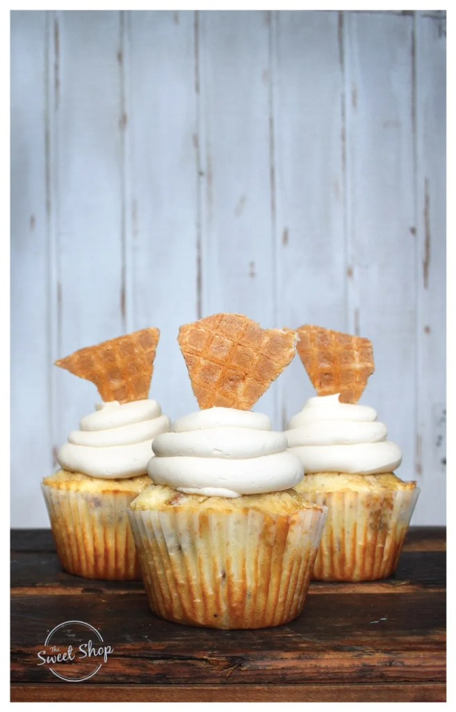 The Chicken N' Waffles cupcake from The Sweet Shop at 4 Rivers Smokehouse.