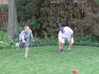 Jimmy and Scott playing Bocce Ball like pros!
