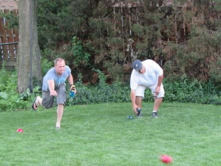 Jimmy and Scott playing Bocce Ball like pros!