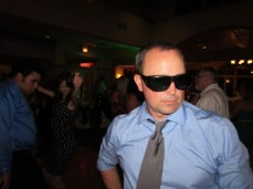 Jimmy showing off his moves in grandma's sunglasses!