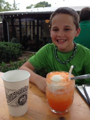 Enjoying Ice Cream drinks at The Pharmacy in Atlanta.