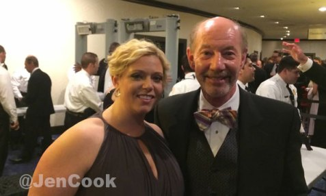 Tony Kornheiser and Jackie Fell at the WHCD
