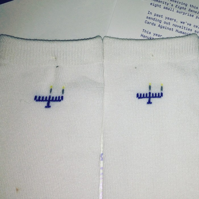 Cards Against Humanity - Hanukkah Socks