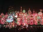 Small World with holiday lights