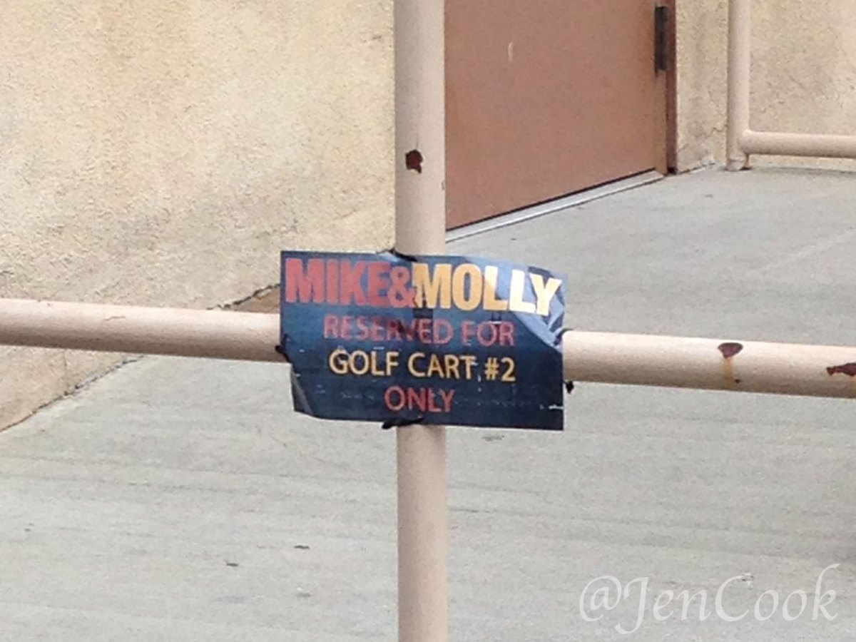 Mike & Molly is filming just a few stages over from Gilmore Girls.