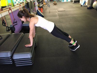 push up position ankle band