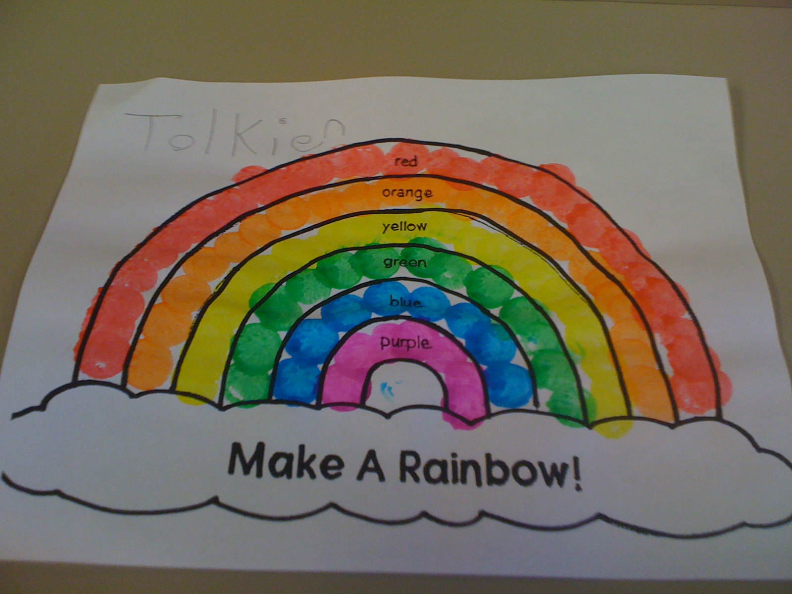 R Is For Rainbow Mrs Kilburn S Kiddos