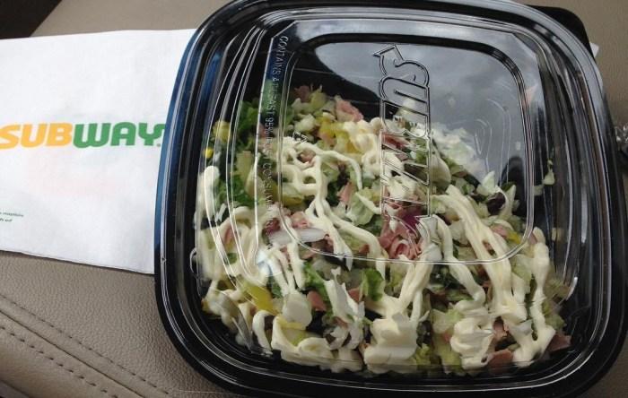 Low carb Subway salad.
