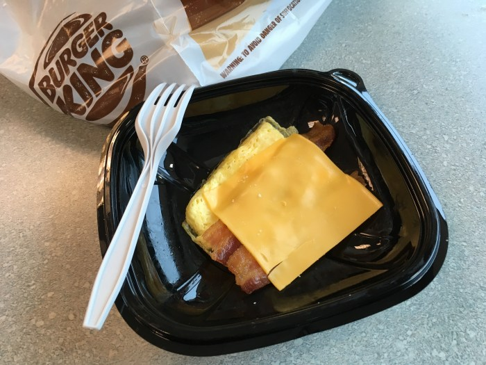 Low Carb Burger King Bacon Egg and Cheese Biscuit