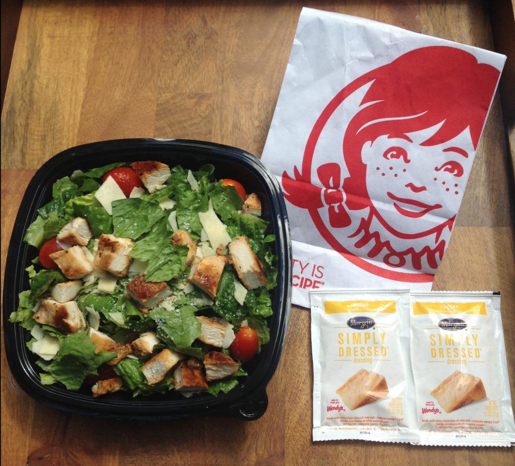 Wendys spicy chicken caesar salad nutritional info