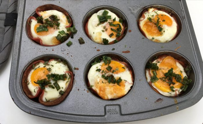 My Ham, Egg, and Cheese Breakfast Cupcakes in the Muffin Tin