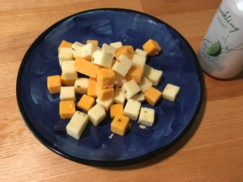 Keto Cheese Cubes on a Plates
