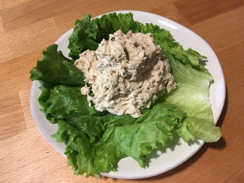 Keto Tuna Salad Plated