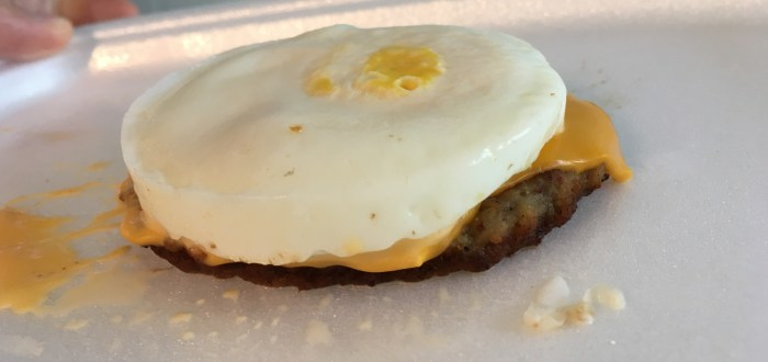 Low Carb McDonald's Sausage McMuffin with Egg