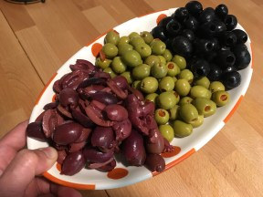 Keto Olives on a Tray