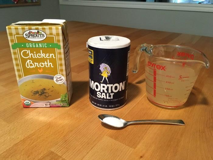 Keto Headache Relief - Chicken Broth and Salt