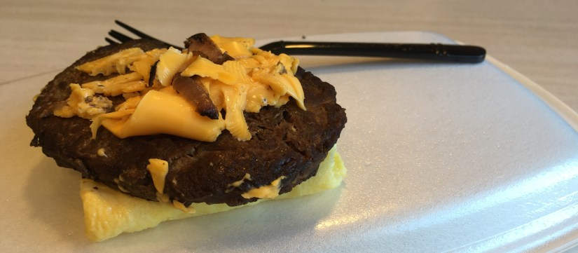 Low Carb McDonalds Steak Egg and Cheese Biscuit