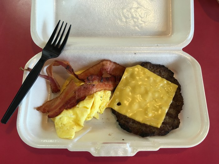 Low Carb Carls Jr Breakfast Burger