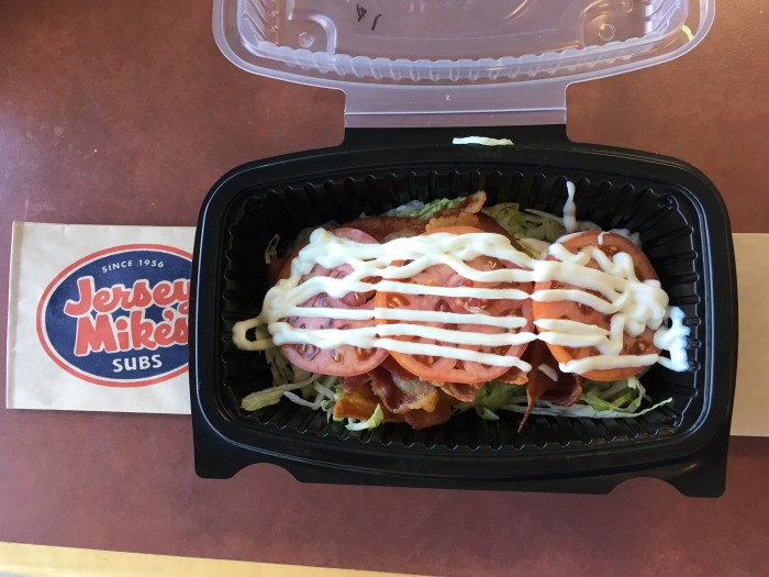 Low Carb Jersey Mikes Sub in a Tub No 1 BLT