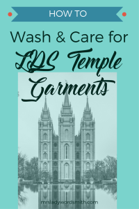 Wash and Care for LDS Temple Garments