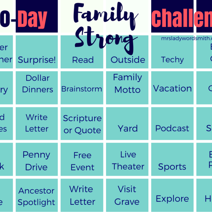 Family Strong: 30 Day Challenge