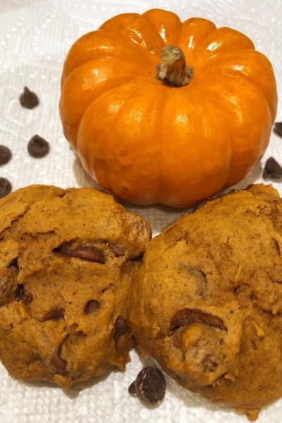 Fluffy Pumpkin Chocolate Chip Cookies